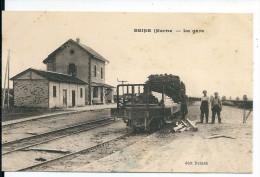 Beine ( Nauroy) /Marne , La Gare Avec Ouvriers Déchargeant Un Wagon ( Non Vue Sur Delcampe) - Non Classés