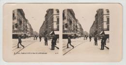 LYON - Place Le Viste Et Rue De La République - Photo Stéréoscopique - 9 X 18 Cm - Stereoscoop