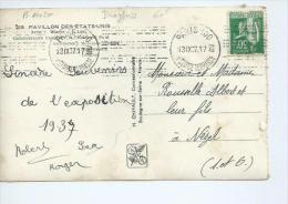 "Flamme ""Mont Dore 15 Mai- 15 Octobre/ Asthme/ Voies Respiratoires "" Rue Claude Terrasse PARIS 100. - Poststempel (Briefe)"