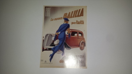 CO-6198 PUBBLICITA' FIAT BALILLA TORINO ILLUSTRATORE MARCELLO DUDOVICH - Cromo
