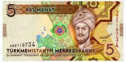 TURKMENISTAN 5 MANAT 2012 Pick 30 Unc - Turkmenistan