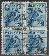 Australie - 1928 - Y&T N° 59 En Bloc De Quatre Oblitéré - Used Stamps