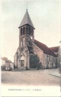 DAMPIERRE En YVELINES  L'église Superbe Carte Colorisée  Neuve Excellent état - Dampierre En Yvelines