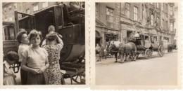 Photo Originale Attelage - Calèche, Diligence, Chariot Avec Cochers En Tenues D'époque - Chevaux - Otto Jäckel 2 Photos - Objets