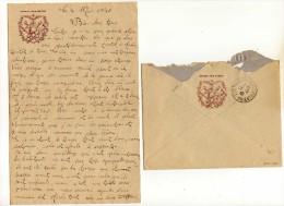 Enveloppe Et Papier Lettre Offert Par BYRRH Année 1940 - Documentos