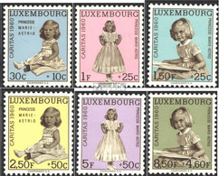 Luxemburg 631-636 (kompl.Ausg.) Postfrisch 1960 Caritas - Luxemburg