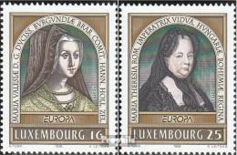 Luxemburg Mi.-Nr.: 1390-1391 (kompl.Ausg.) Postfrisch 1996 Berühmte Frauen - Luxemburg