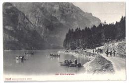KLÖNTHALERSEE: Arbeiter, Fuhrwerk, Boote 1906 - GL Glaris