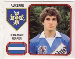 FOOT STICKER FRANCE PANINI FOOTBALL 82 N°013 JEAN-MARC FERRERI - AJ AUXERRE - Edition Française