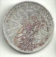 Austria 2 Kronen 1913 - Autriche