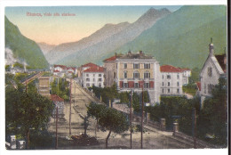 BIASCA: Viale Alla Stazione, Coloriert ~1910 - TI Tessin