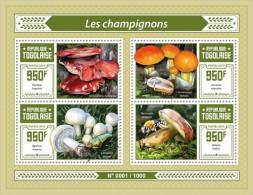 Togo 2015, Mushrooms II, Bee, 4val In BF - Abeilles