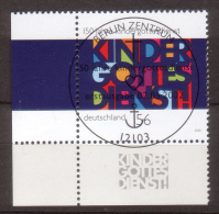 BRD , 2002 , Mi.Nr. 2256 O Eckrand Ersttagsstempel - [7] Federal Republic