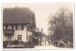 NIEDERLENZ: Animierte Dorfpassage, Pferde-Fuhrwerk, Echt-Foto-AK ~1920 - AG Argovie