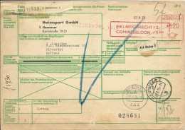 Parket Karte Hannover Nach Nijverdal Niederlande 9/8/1975 - [7] West-Duitsland