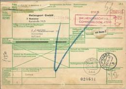 Parket Karte Hannover Nach Nijverdal Niederlande 9/8/1975 - Brieven En Documenten