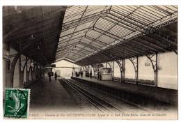 CPA 75 Métropolitain Gare De La Glacière Ligne N°2 Sud Etoile Italie Chemin De Fer Métro PARIS 1908 - Métro Parisien, Gares