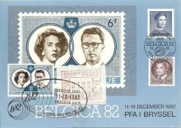 Belgien+ Sverige: Sonder-PK M ATM/Automatenmarke/label MN 2, BELGICA '82, RARE! - België