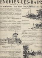 PUBLICITE DE MAGAZINE ENGHIEN LES BAINS CASINO THERMES 1900 - Dépliants Touristiques
