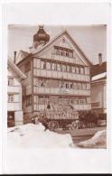 BÜHLER: Gasthaus Hirschen, Pferde-Fuhrwerk (Mehlsäcke?) - Privatfoto-AK, Rarität ~1910 - AR Appenzell Rhodes-Extérieures