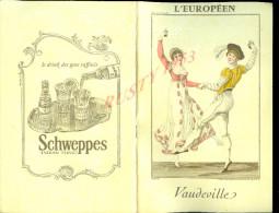 PROGRAMME DE THÊATRE L EUROPÉEN VAUDEVILLE   DIVERS PUB 34 PAGES : - Programmi