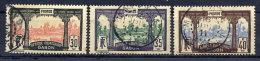 GABON 1910-18 30c, 35c, 40c Used.  Yv. 57-59 - Used Stamps