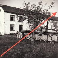 Photo Signée Grand Duché De Luxembourg Guerre 40-45 WWII Kalborn Clervaux Char Tank Après L´offensive - Guerre, Militaire