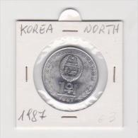 COREA DEL NORD  1 WON   ANNO 1987 - Corea Del Nord