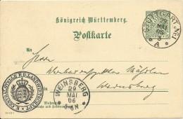 Wuertemberg 29/5/1906 5pf Official Postcard Stuttgart To Weinsberg - Wurttemberg