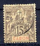GABON 1904-07 Definitive 15c, Used.  Yv. 21 - Gabon (1886-1936)