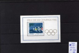 11980 - DDR - JJOO De Moscu 80 - MNH.. - Verano 1980: Moscu