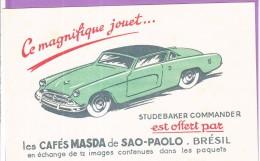 Buvard Café MASDA Brésil Voiture Auomobile Illustrateur Studebaker Commander - Café & Thé