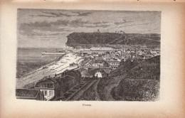 1891 - Gravure Sur Bois - Fécamp (Seine-Maritime) - Vue Générale - FRANCO DE PORT - Estampes & Gravures