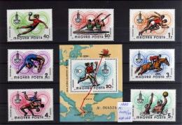 1980 - Hungria - JJOO De Moscu - Mi 3433-39 - HB 2 - MNH - Verano 1980: Moscu