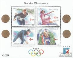 Norwegen Mi.-Nr.: Block14 (kompl.Ausg.) Postfrisch 1990 Winterolympiade - Blocks & Kleinbögen