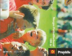 Norwegen 1426-1429MH (kompl.Ausg.) Postfrisch 2002 Fussballverband - Norwegen