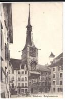 SOLOTHURN: Geschäfte, Cafe Mit Zeitglockenturm ~1910 - SO Soleure