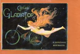 Publicité - Cycles Gladiator , Boulevard Montmartre -Nos Cyclismes  - éditions F.NUGERON - Wielrennen