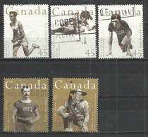 CANADA 1996 - OLYMPIC CENTENARY - OLYMPIC WINNERS - CPL. SET - USED OBLITERE GESTEMPELT USADO - 1952-.... Règne D'Elizabeth II