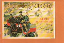 Publicité - Automobiles PEUGEOT , Boulevard Gouvion St Cyr Nos Vieilles Affiches - éditions F.NUGERON - Cartes Postales