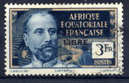 A.E.F. 1940 Definitive 3 Fr. Overprinted LIBRE In Black, Used.  Yv. 124 - A.E.F. (1936-1958)