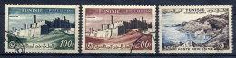 TUNISIA 1956 Airmail 100, 200, 500 Fr. Used.   SG 423-25 - Tunisia