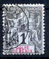 BENIN 1893 Definitive 1c. Used.  Yv. 20 - Benin (1892-1894)