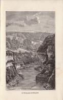1890 - Gravure Sur Bois - Bellegarde-sur-Valserine (Ain) - Le Rhône - FRANCO DE PORT - Estampes & Gravures