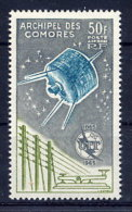 COMORO IS. 1965 ITU Centenary 50 F. LHM / *.  Yv. A14 - Comoro Islands (1950-1975)