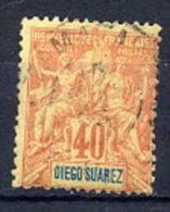 DIEGO SUAREZ 1893 Definitive 40 C. Used.  Yv. 47 - Diego-suarez (1890-1898)