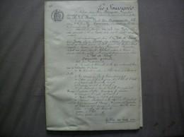 ETAT DES LIEUX 22 OCTOBRE 1912 PAR M.VIET GEOMETRE D'UNE FERME 98 RUE D'ALSACE LORRAINE A VERVINS LOUE A M.DUSSANCOURT - Manuscripts