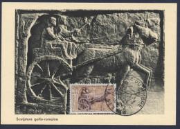 Carte Journée Du Timbre 1963 Sculpture Gallo Romaine - Oblitérés