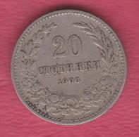 F5121 / - 20 Stotinki - 1906 - Bulgaria Bulgarie Bulgarien Bulgarije - Coins Monnaies Munzen - Bulgaria