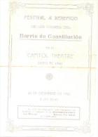 POVERTRY POBREZA - FESTIVAL A BENEFICIO DE LOS POBRES DEL BARRIO DE CONSTITUCION CAPITOL THEATRE 20 DE DICIEMBRE DE 1924 - Programmi